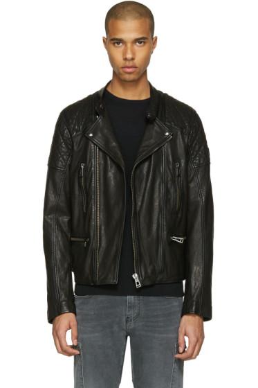 Belstaff - Black Leather Greensted Jacket