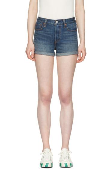 Levi's - Blue Denim Wedgie Fit Shorts