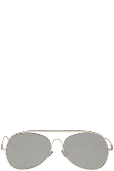 Acne Studios - Silver Spitfire L Sat Sunglasses