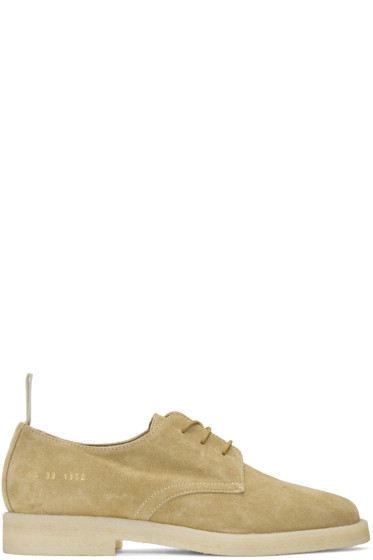 Common Projects - Tan Suede Cadet Derbys