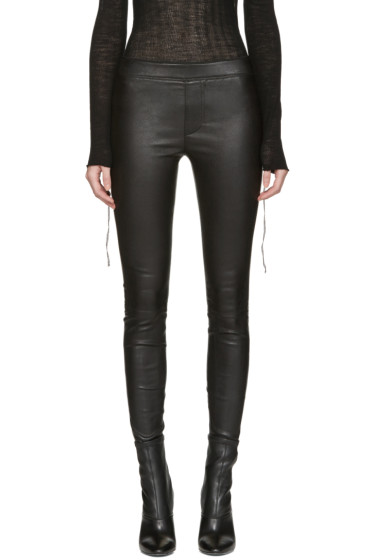 Helmut Lang - Black Leather Pants