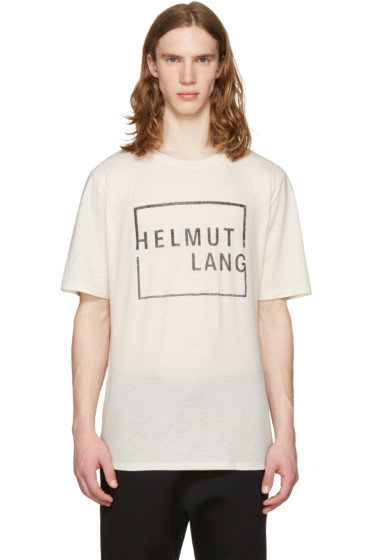 Helmut Lang - Off-White Logo T-Shirt