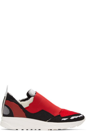 Maison Margiela - Red Destroyed Sneakers