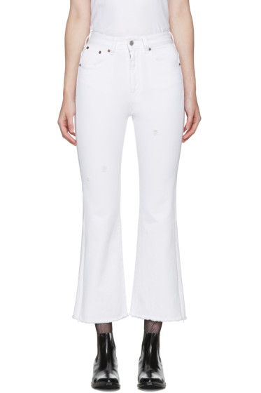 MM6 Maison Margiela - White Cropped Jeans