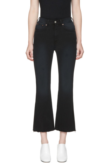 MM6 Maison Margiela - Black Cropped Jeans