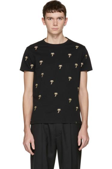 Marc Jacobs - ブラック エンブロイダ パーム ツリー T シャツ