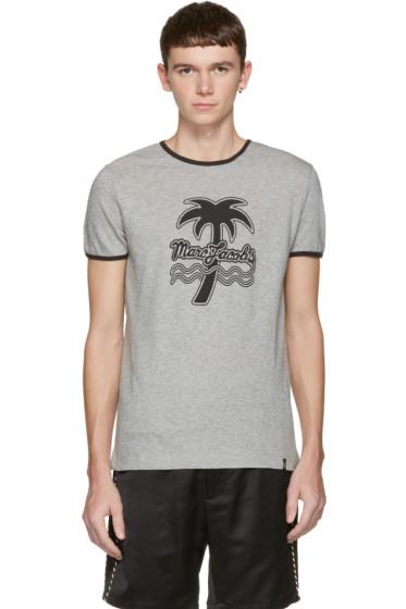 Marc Jacobs - グレー パーム ツリー リンガー T シャツ