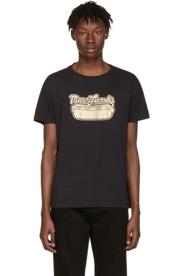 Marc Jacobs - ブラック ホット ドッグ ロゴ T シャツ