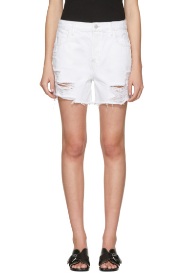 J Brand - White Denim Ivy Shorts