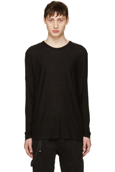 T by Alexander Wang - Black Long Sleeve T-Shirt