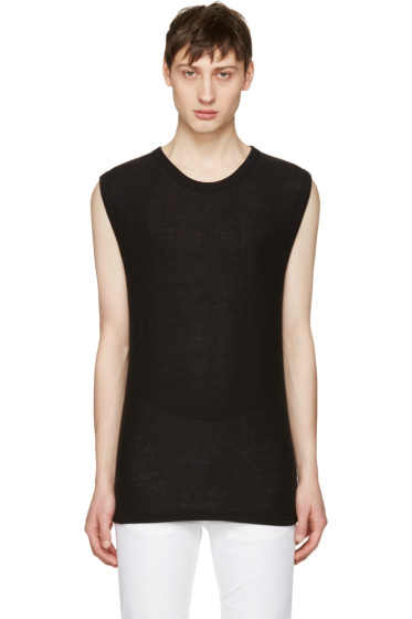 T by Alexander Wang - Black Sleeveless T-Shirt