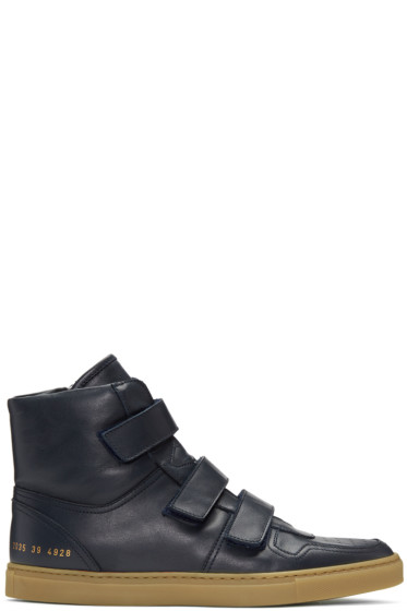 Robert Geller - Navy Common Projects Edition High-Top Sneakers
