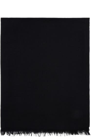 Rick Owens - Black Cashmere & Cotton Scarf