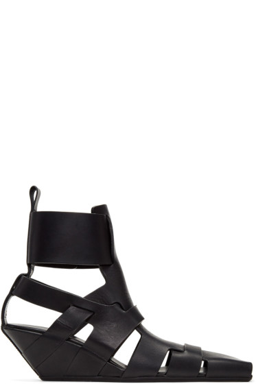 Rick Owens - Black Lazarus Gladiator Sandals