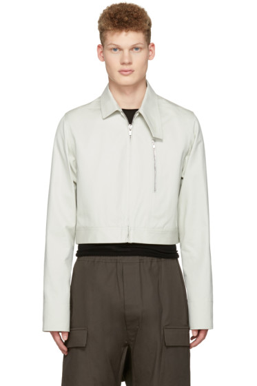 Rick Owens - Ivory Cropped Brother Jacket