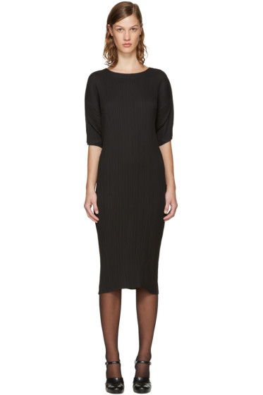 Jil Sander - Black Plissé Dress