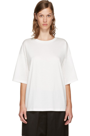 Jil Sander - White Open Back T-Shirt