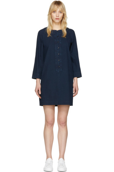 A.P.C. - Indigo Louxor Dress