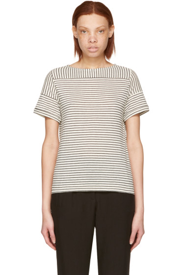 A.P.C. - Ecru Striped Malia T-Shirt