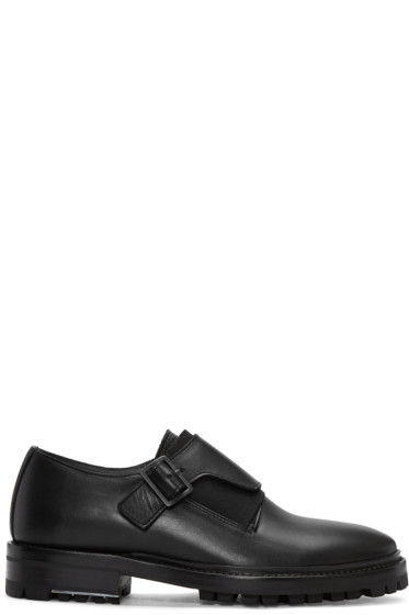 Lanvin - Black Leather Monkstraps