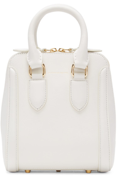 Alexander McQueen - White Small Heroine Bag
