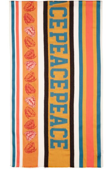 Paul Smith - Multicolor Jacquard River Peace Scarf