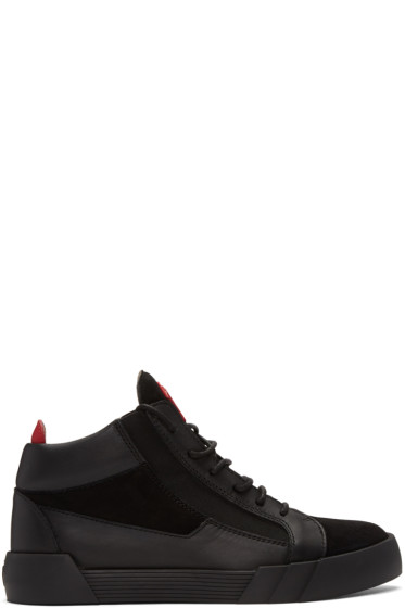 Giuseppe Zanotti - Black Foxy London Mid-Top Sneakers