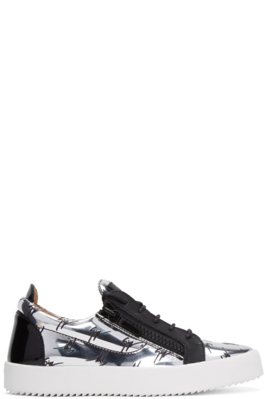 Giuseppe Zanotti - Silver Logo May London Sneakers