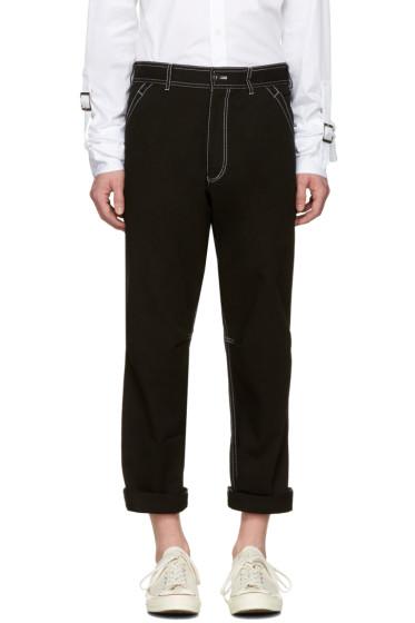 Comme des Garçons Shirt - Black Workstitch Trousers