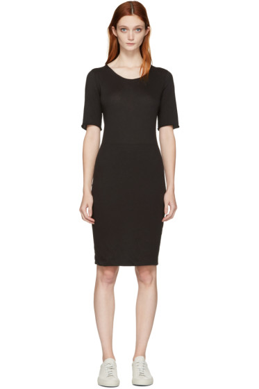 Raquel Allegra - Black Jersey Fitted Dress