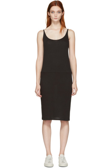 Raquel Allegra - Black Jersey Tank Dress