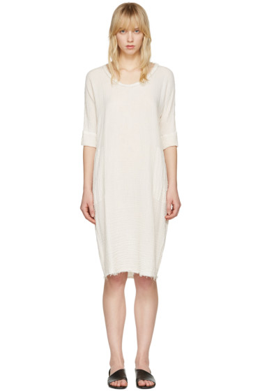 Raquel Allegra - Off-White Gauze T-Shirt Dress