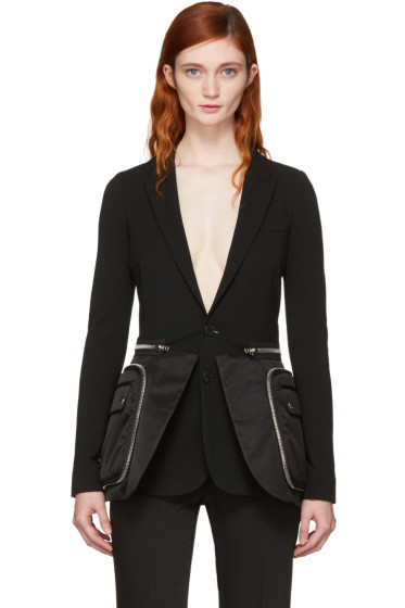 Givenchy - Black Oversized Pocket Blazer