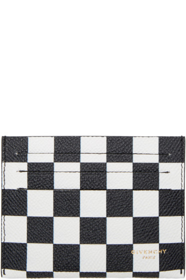 Givenchy - Black & White Check Card Holder