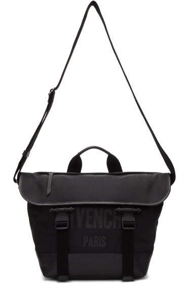Givenchy - Black Canvas Messenger Bag