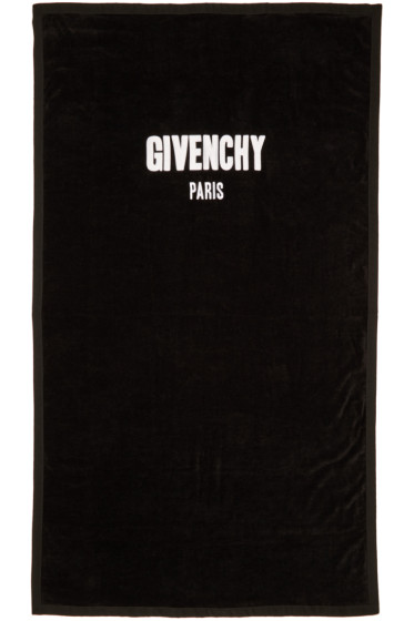 Givenchy - Black Logo Towel