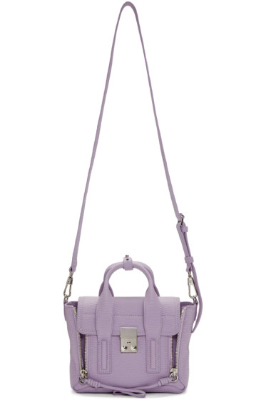 3.1 Phillip Lim - SSENSE Exclusive Purple Mini Pashli Satchel