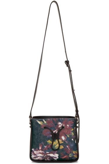 3.1 Phillip Lim - Blue Denim Floral Mini Soleil Bucket Bag