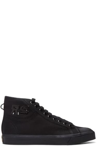 Raf Simons - Black adidas Originals Edition Spirit High-Top Sneakers
