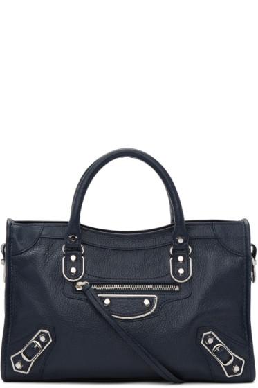 Balenciaga - Blue Metallic Edge City S Bag