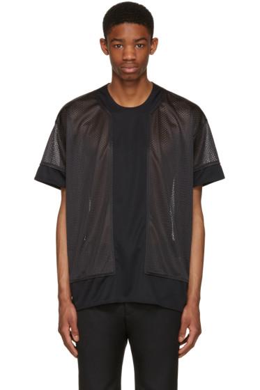 Comme des Garçons Homme Plus - Black Jersey Mesh T-Shirt