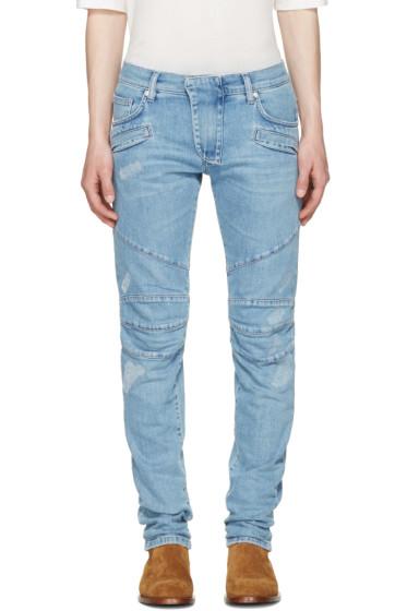 Pierre Balmain - Blue Panelled Jeans