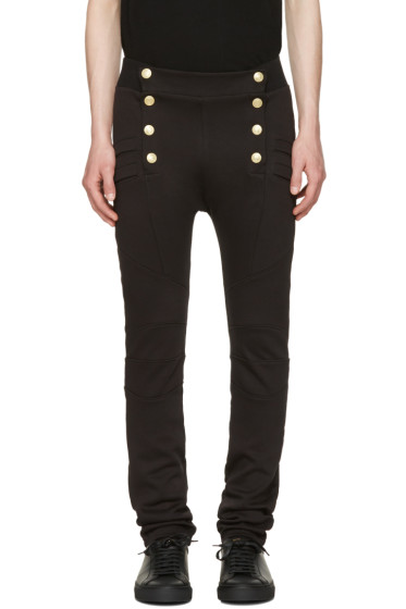 Pierre Balmain - Black Buttoned Lounge Pants