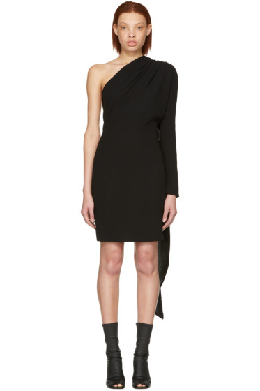 Gareth Pugh - Black Scarf Single-Sleeve Dress