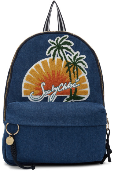See by Chloé - Blue Denim Sunset Backpack