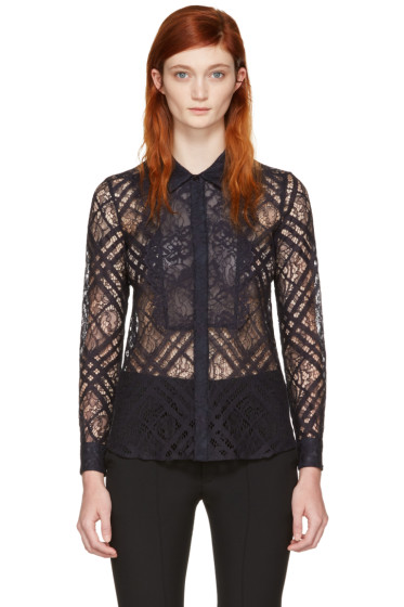 Burberry - Navy Lace Aster Shirt