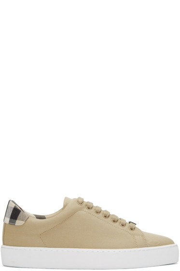 Burberry - Taupe Westford Check Sneakers