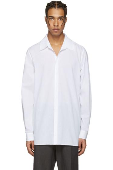 Ann Demeulemeester - White Back Belt Shirt