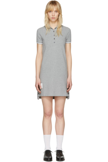 Thom Browne - Grey A-Line Polo Dress