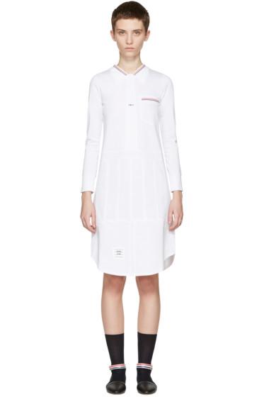 Thom Browne - White Trompe L'Oeil Shirt Dress